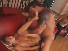 Husband Watches While Swinger milf Screws