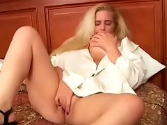 Mature Blonde BBW Candy Sucking Hard Cock And Fucking Missionary