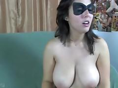 Busty MILF In Shorts Gives A Blowjob CFNM
