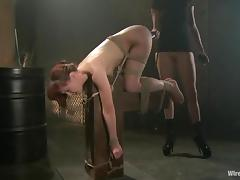 Lovley Yet Naughty Redhead AnnaBelle Lee Getting Toyed in Lesbian BDSM