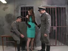 Threesome, Army, Blowjob, Facial, MMF, Prison