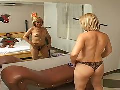 Black Granny, Big Cock, Black, Blonde, Blowjob, Couple