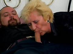 Black Granny, Angry, Blowjob, Couple, Cowgirl, Cum in Mouth
