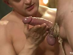 Lief Kaase gets toyed with electro dildo and fucked