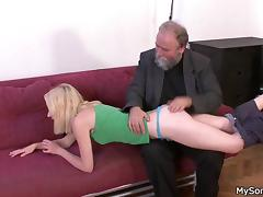 dad ass slapped and fucked my girl