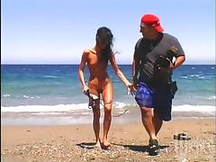Beach, Allure, Beach, Big Tits, Blowjob, Brunette
