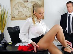 Office, Anal, Blonde, Blowjob, Cute, HD