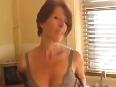 Aunt, Aunt, Masturbation, Mature, Stockings, Tease