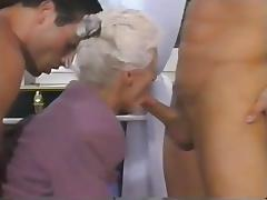 Granny, Double, Granny, Mature, Old, Double Penetration