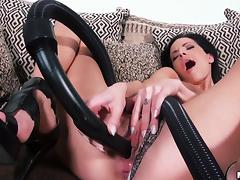 All, Babe, Brunette, Masturbation, Solo, Vacuum