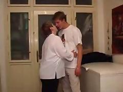 Mom and Boy, Mature, Old, Russian, Old and Young, Older