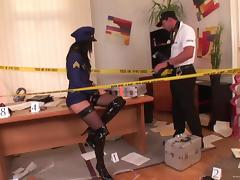 Office, Anal, Blowjob, Cop, Couple, Cowgirl