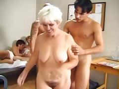 Granny, Granny, Group, Mature, Old, Orgy