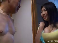 Old And Young Japanese Having Hardcore Sex In The Bathroom