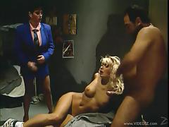 Unbelievable Blonde Gets Fucked By Horny Men And A Dirty Woman
