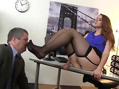 Office, Brunette, Couple, Facesitting, HD, MILF