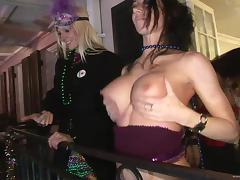 Mardi Gras, Babe, Big Tits, Boobs, Exhibitionists, Flashing