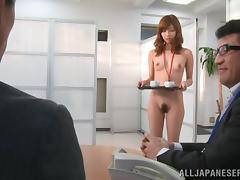 Pretty Miyuki Yokoyam Serves Yummy Blowjobs In An Office