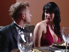 Eva Karera gets her cunt and ass fucked deep in the kitchen
