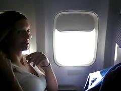 crv - woman masturbating on plane