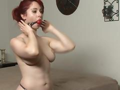 redhead self bondage