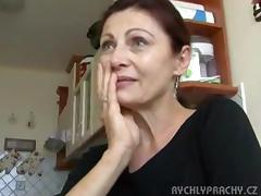 amature czech older fuck and facial