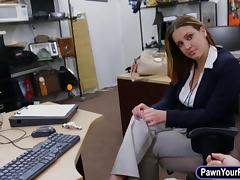 Business lady convinced to get fucked with pervert pawnkeeper