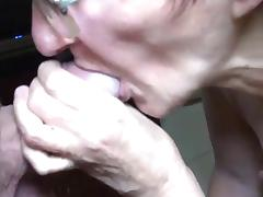 Very old grandma sucking on fat cock