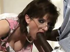 Black Granny, Big Cock, Big Tits, Black, Blowjob, Boobs