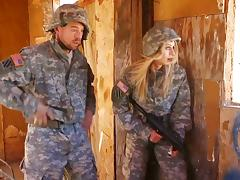 Army, Army, Babe, Blonde, Costume, Couple