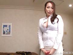 Asian Granny, Asian, Big Tits, Blowjob, Couple, Handjob